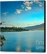 Morning Reflections On Lake Cascade Canvas Print by Robert Bales