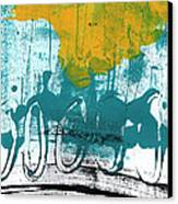 Morning Ride Canvas Print by Linda Woods