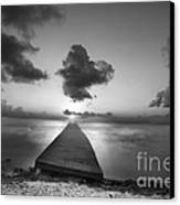 Morning Sunrise By The Dock Canvas Print by Dan Friend