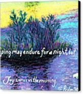 Morning Swan Canvas Print by Catherine Saldana