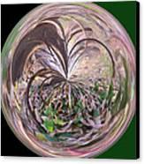 Morphed Art Globe 36 Canvas Print by Rhonda Barrett