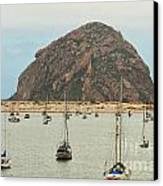 Morro Bay Rock At Dawn Canvas Print by Artist and Photographer Laura Wrede