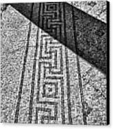 Mosaic 1 Ceasarea Phillippi Beit Sha'en Israel Bw Canvas Print by Mark Fuller