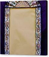 Mosaic Fan Frame Canvas Print by Charles Lucas