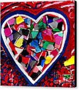 Mosaic Heart Canvas Print by Genevieve Esson