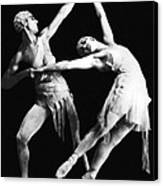 Moscow Opera Ballet Dancers Canvas Print by Underwood Archives