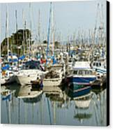 Moss Landing Boat Harbor Canvas Print by Artist and Photographer Laura Wrede