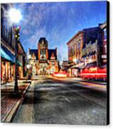 Most Beautiful Small Town In America At Christmas Canvas Print by Darren Fisher