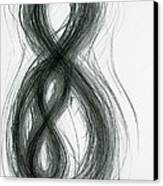 Mother And Child Figure-eight Study Canvas Print by Michael Morgan
