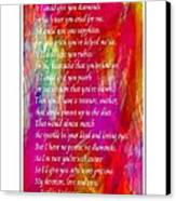 Mother If I Could Give You 2 Canvas Print by Barbara Griffin