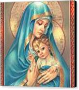 Mother Of God Canvas Print by Zorina Baldescu