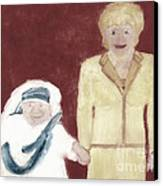Mother Teresa And Princess Diana In Heaven 3 Canvas Print by Richard W Linford