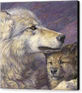 Mother's Love Canvas Print by Lucie Bilodeau