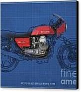 Moto Guzzi 850 Le Mans 1976 Canvas Print by Pablo Franchi