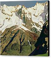 Mount Blanc Mountains Canvas Print by Isaak Ilyich Levitan