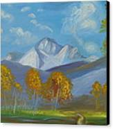Mount Sneffels San Juan Mountains Colorado Canvas Print by Patricia Kimsey Bollinger