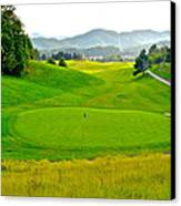 Mountain Golf Canvas Print by Frozen in Time Fine Art Photography