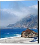 Mountains Sea Sky Canvas Print by Boon Mee