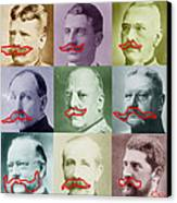 Moustaches Canvas Print by Tony Rubino
