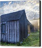 Mt Leconte Cabins Canvas Print by Debra and Dave Vanderlaan