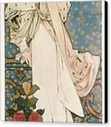 Mucha, Alphonse Maria 1860-1939 Canvas Print by Everett