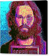 Mugshot Jim Morrison 20130329 Canvas Print by Wingsdomain Art and Photography