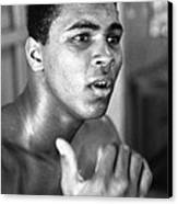 Muhammad Ali Intently Canvas Print by Retro Images Archive