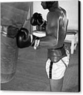 Ali Punching Bag Canvas Print by Retro Images Archive