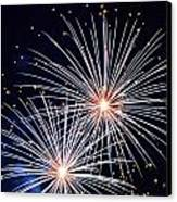 4th Of July Fireworks 3 Canvas Print by Howard Tenke
