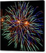 4th Of July Fireworks 22 Canvas Print by Howard Tenke