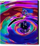 Multicolor Water Droplets 1 Canvas Print by Imani  Morales