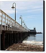 Municipal Wharf At The Santa Cruz Beach Boardwalk California 5d23768 Canvas Print by Wingsdomain Art and Photography