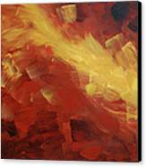 Muse In The Fire 1 Canvas Print by Sharon Cummings