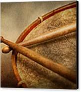 Music - Drum - Cadence  Canvas Print by Mike Savad