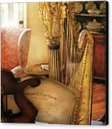 Music - Harp - The Harp Canvas Print by Mike Savad