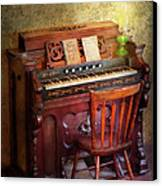 Music - Organist - Playing The Songs Of The Gospel  Canvas Print by Mike Savad