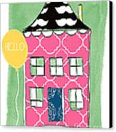 Mustache House Canvas Print by Linda Woods