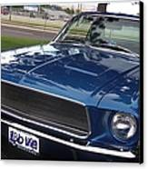 Mustang Classic Canvas Print by Bobbee Rickard