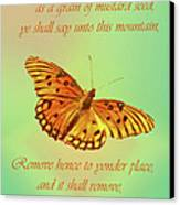 Mustard Seed Faith Canvas Print by Larry Bishop