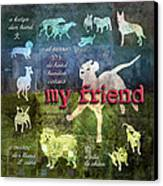 My Friend Dogs Canvas Print by Evie Cook