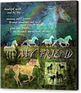 My Friend Horses Canvas Print by Evie Cook