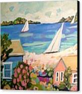 My Pink Hibiscus Tree Canvas Print by Karen Fields