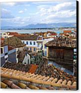 Nafplio Rooftops Canvas Print by David Waldo