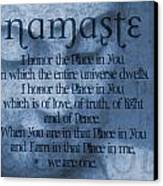 Namaste Blue Canvas Print by Dan Sproul