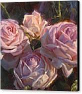 Nana's Roses Canvas Print by Karen Whitworth