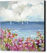 Nantucket Sea Roses Canvas Print by Joyce Hicks