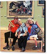 Nap Time At The Louvre Canvas Print by Tom Roderick