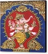Narthana Ganapathi Canvas Print by Jayashree