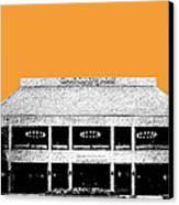 Nashville Skyline Grand Ole Opry - Orange Canvas Print by DB Artist