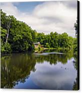 Nature Center On Salt Creek Canvas Print by Thomas Woolworth